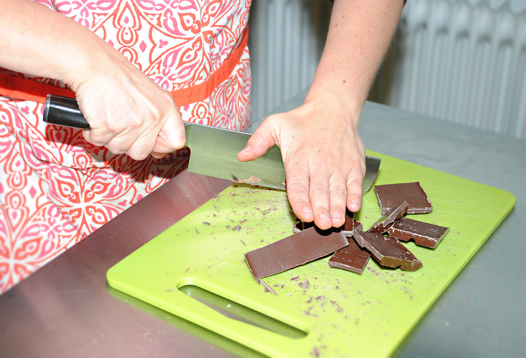 Vegane Schokolade hacken