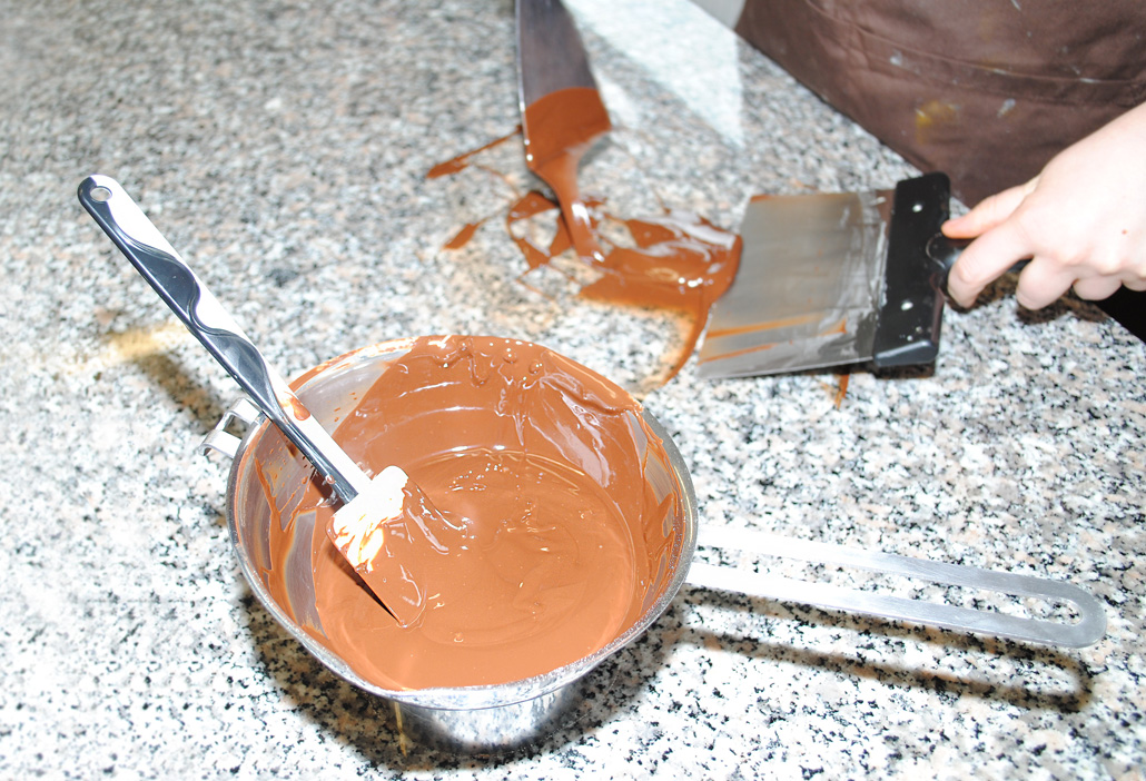 Vegane Schokolade abkühlen