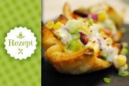 Veganes 15-Minuten-Rezept: Pizza Tacobaskets